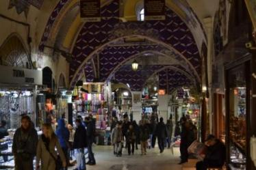 Tourists and locals flood the Grand Bazaar